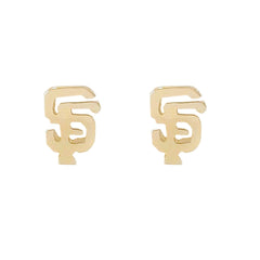 "14K Gold ""SF"" Initials Stud Earring ~ In Stock!"
