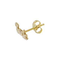14K Gold 'Fuck' Stud Earrings, Script Font ~ In Stock!