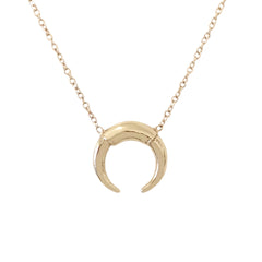 14K Gold Double Horn Necklace ~ In Stock!