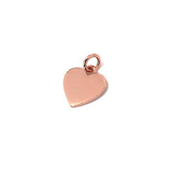 14K Gold Initial Heart Necklace, Small Size