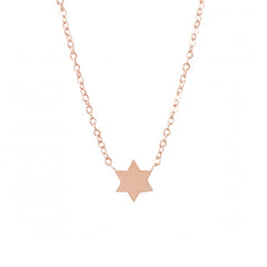 14K Gold Star of David Charm Pendant Necklace