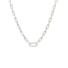 14K Gold Diamond Thick Oval Link Necklace, Small Size Links ~ In Stock!