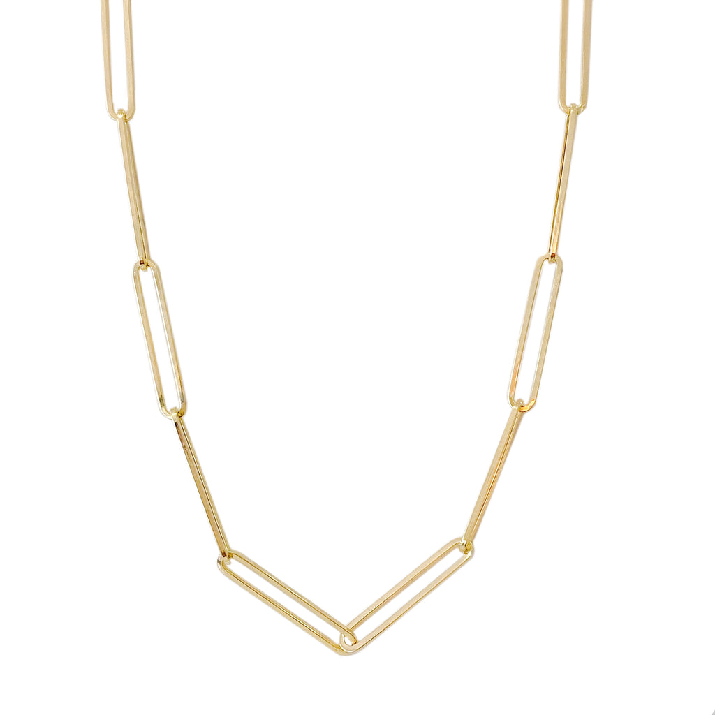 14K Gold Extra Elongated Oval Link Chain Necklace ~ In Stock!