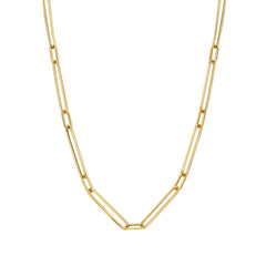 14K Gold Alternating 1 to 1 Elongated Oval Link Chain Necklace, Large Size ~ In Stock!