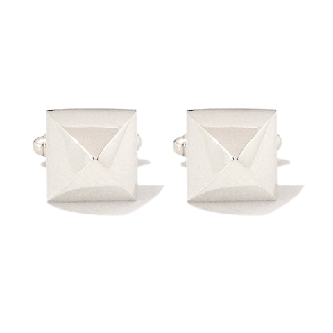Sterling Silver XL Pyramid Spike Cufflinks