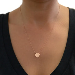 14K Gold Engravable XL Sweetheart Necklace