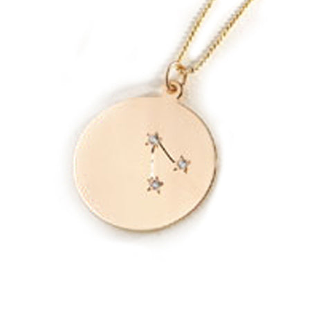 Zodiac Constellation Collection: Aries 14K Gold & Diamond Pendant Necklace