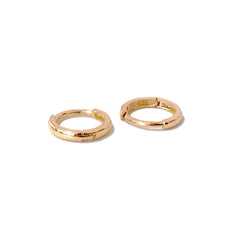 14K Gold XS Size (8mm) Huggie Hoop Earrings