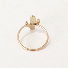 14K Gold Cactus Ring
