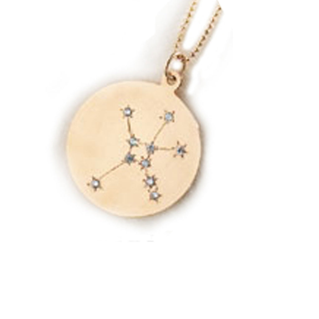 Zodiac Constellation Collection: Cancer 14K Gold & Diamond Pendant Necklace