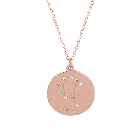 Zodiac Constellation Collection: Gemini 14K Gold & Diamond Pendant Necklace