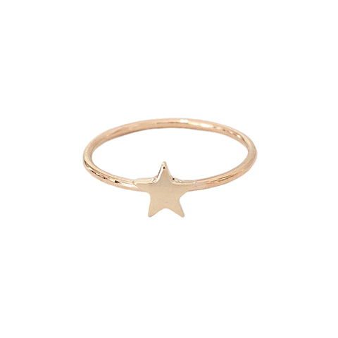 14K Gold XS Star Ring