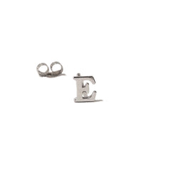 14K Gold Small Size Alphabet Letter Initial Single Stud Earring