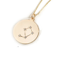 Zodiac Constellation Collection: Libra 14K Gold & Diamond Pendant Necklace
