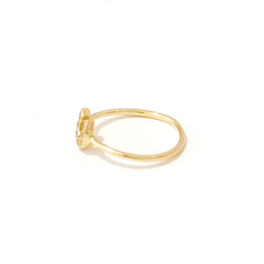 14K Gold & Pavé Diamond XS Horseshoe Ring