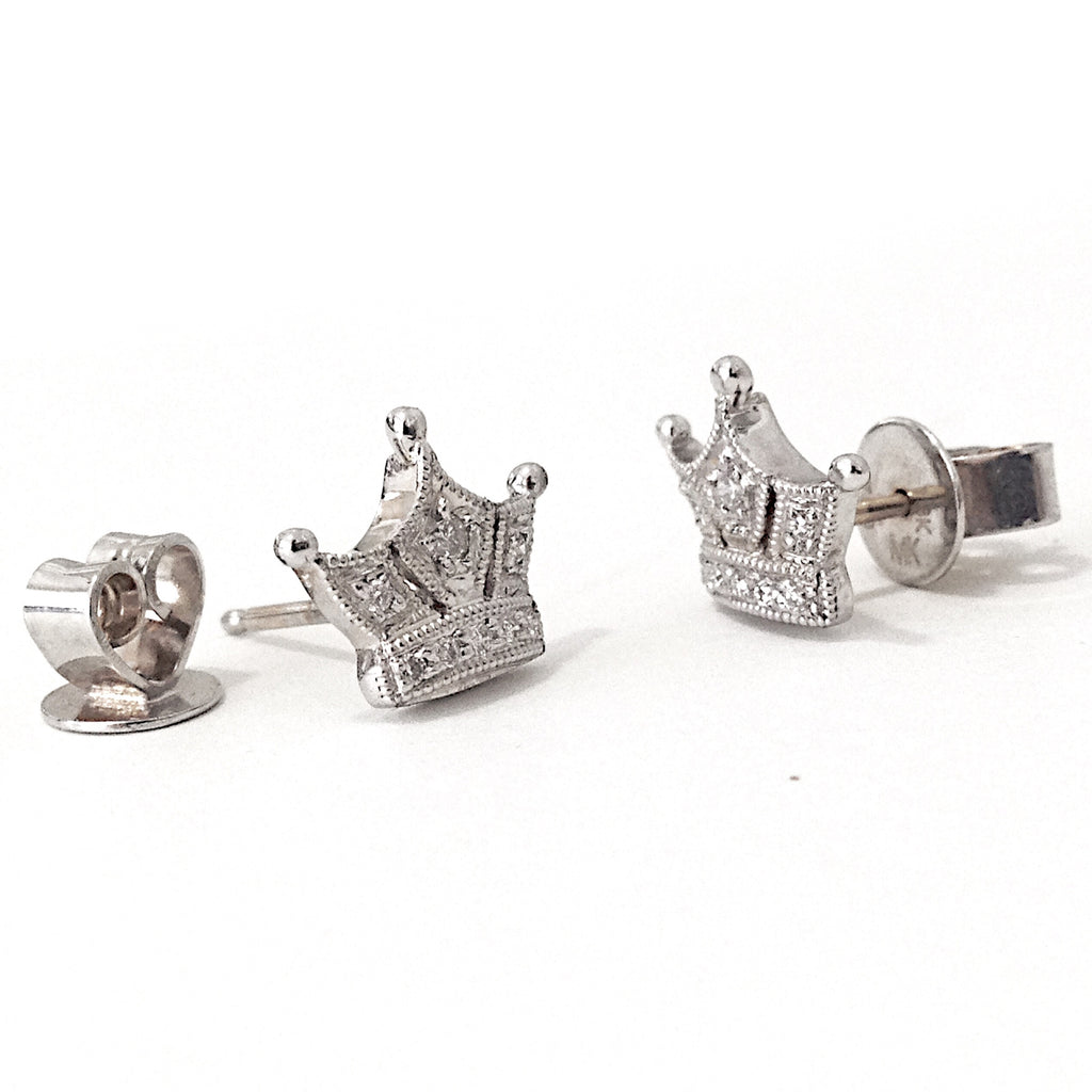 cubic earrings sterling crown jewellery image new stud princess silver zirconia