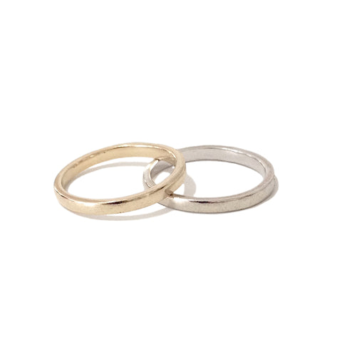 14K Simple Gold Band
