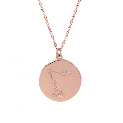 Zodiac Constellation Collection: Pisces 14K Gold & Diamond  Pendant Necklace