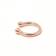 Barbell Collection: 14K Gold Round Ear Cuff