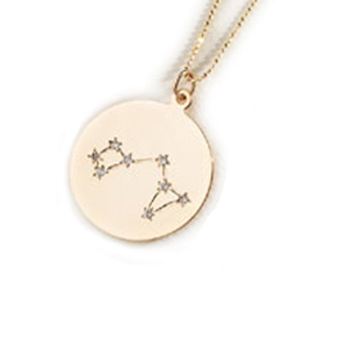Zodiac Constellation Collection: Sagittarius 14K Gold & Diamond Pendant Necklace