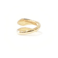 14K Gold Diamond Cobra Snake Wrap Bypass Ring