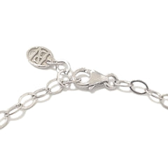 14K Gold XL Sweetheart Monogram Engraved Triple Initial ID Bracelet