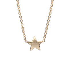 14K Gold XS Triple Star Necklace