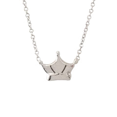 14K Gold Crown Necklace