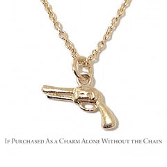14K Gold Gun Necklace