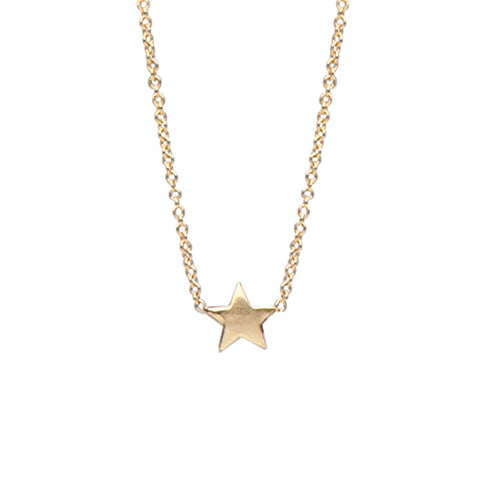14K Gold XS Star Necklace