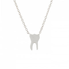 14K Gold Tooth Pendant Necklace ~ In Stock!