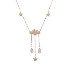 14K Gold Cloudy Dream Drop Necklace ~ In Stock!