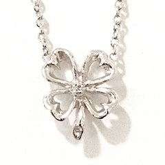 14K Gold & Diamond Four Leaf Clover Necklace