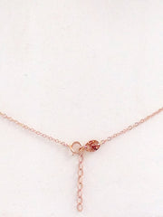 14K Gold Swivel Snake Lariat Drop Body Chain