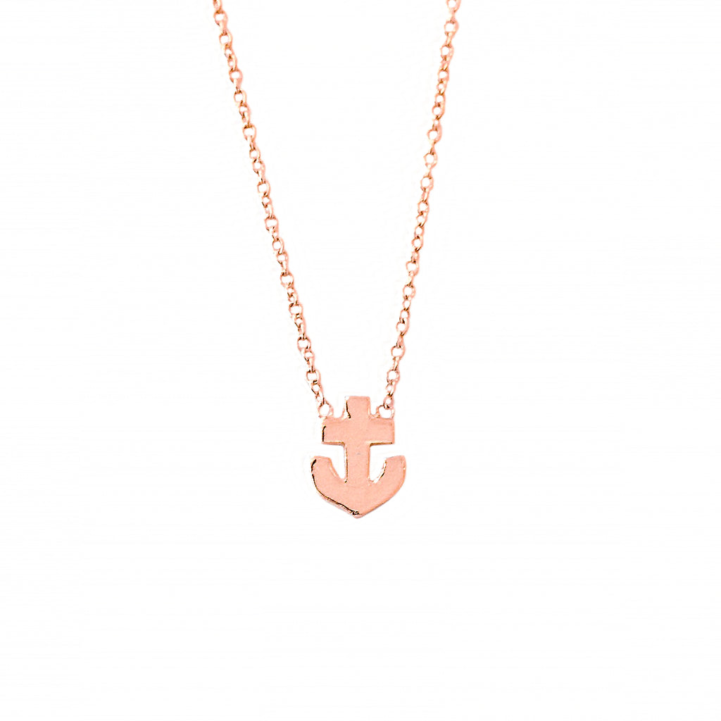 14K Gold XS Anchor Necklace