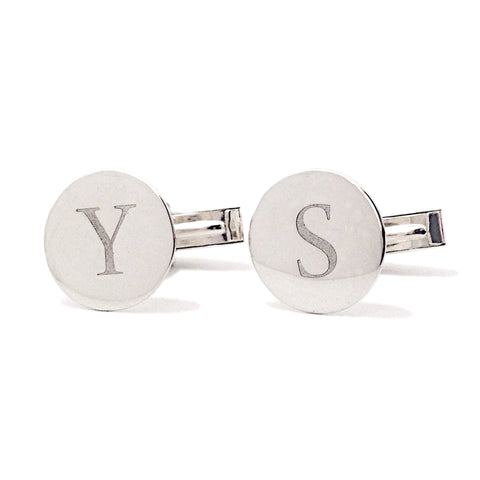 Sterling Silver Initial Cufflinks