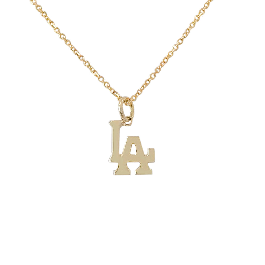 14K Gold LA Logo Necklace