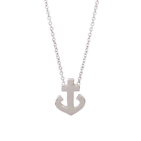14K Gold Large Anchor Necklace