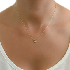 14K Gold Marijuana Leaf Necklace