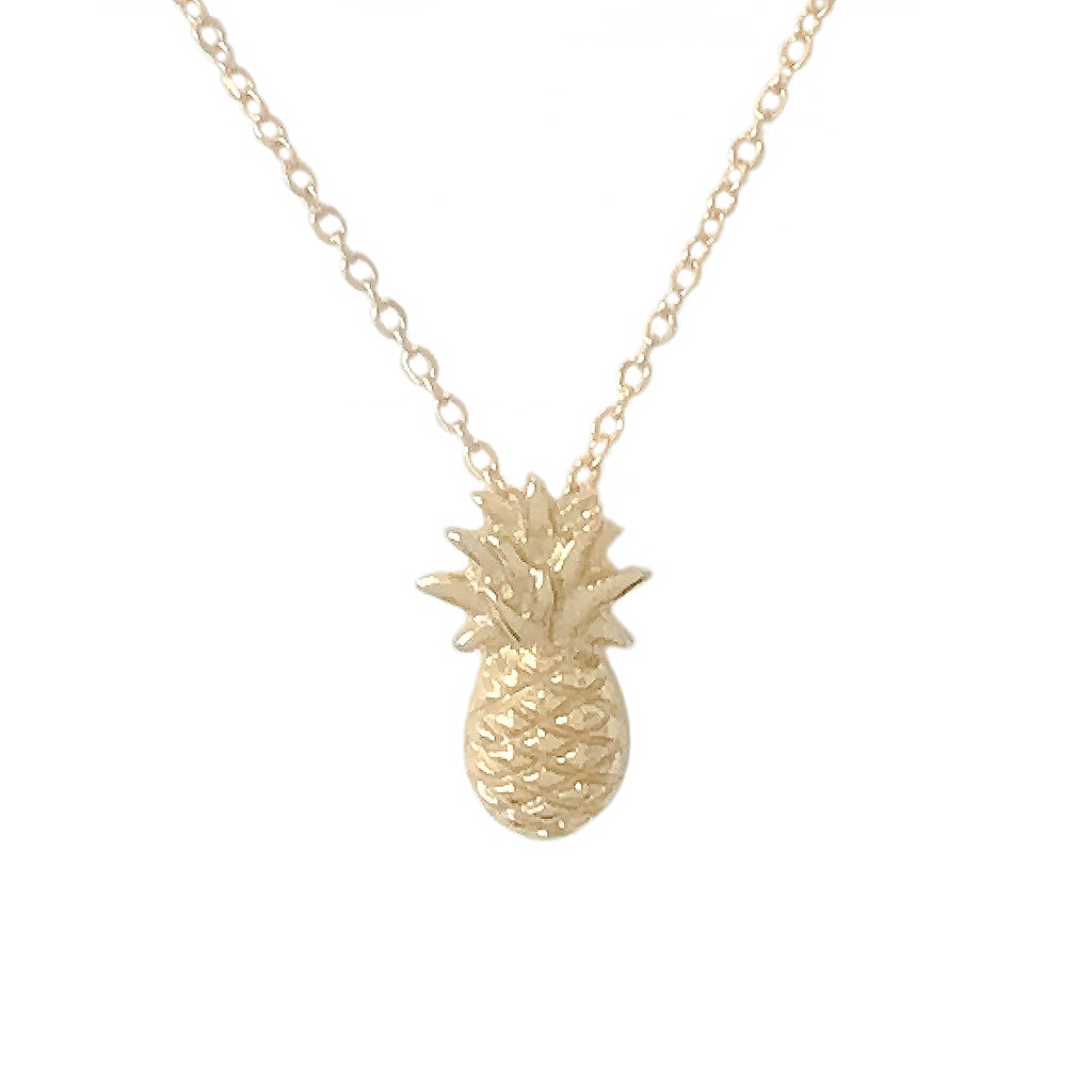 14K Gold Pineapple Necklace