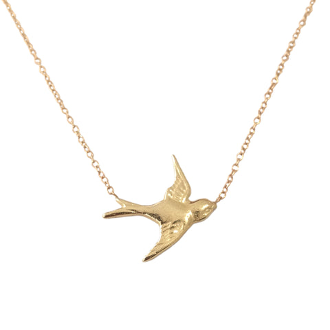 14K Gold Sparrow Necklace