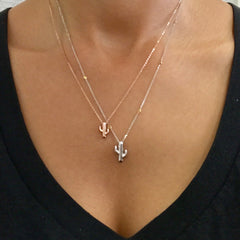 14K Gold XS Size Cactus Necklace
