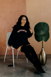 UNAPOLOGETIC | Black Unisex Crewneck Sweatshirt