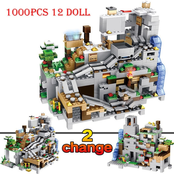 The Mountain Cave Mind Mechanism Building Block Set (1000 Pcs +12 dolls)