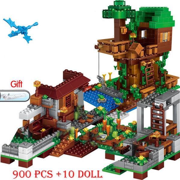 MineCraft Building Brick Set (900pcs+10dolls)