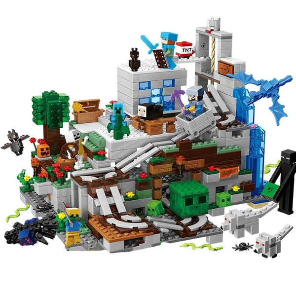 Hot Mountain Cave Building Block Set (1000pcs +dolls)
