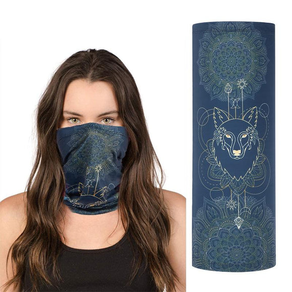 Seamless face mask mask scarf