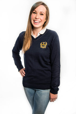 V-Neck Navy Sweater