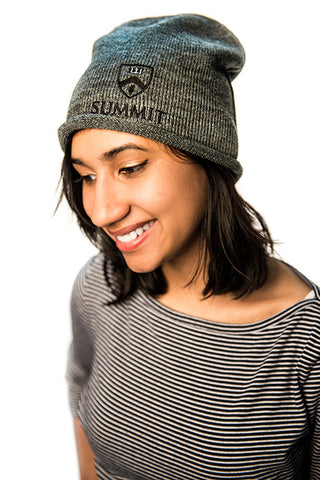 Summit Crest Grey Beanie