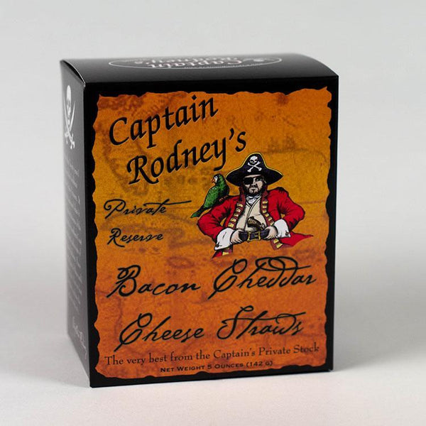 Captain Rodney's Private Reserve Bacon Cheddar Cheese Straws